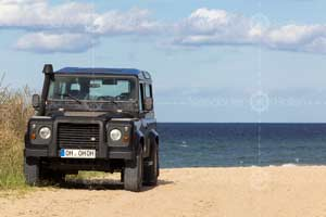 Landy am Hafenstrand